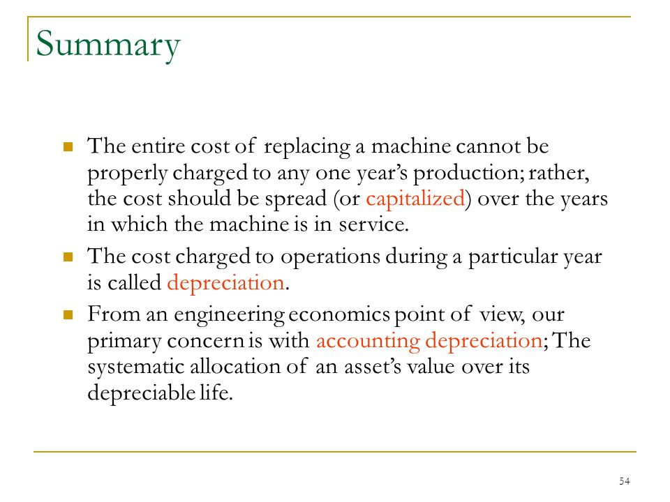 the importance of depreciating expenses in the economy Economic depreciation is different than depreciation expense on tangible breaking down 'economic depreciation' in periods of economic downturn or a general.