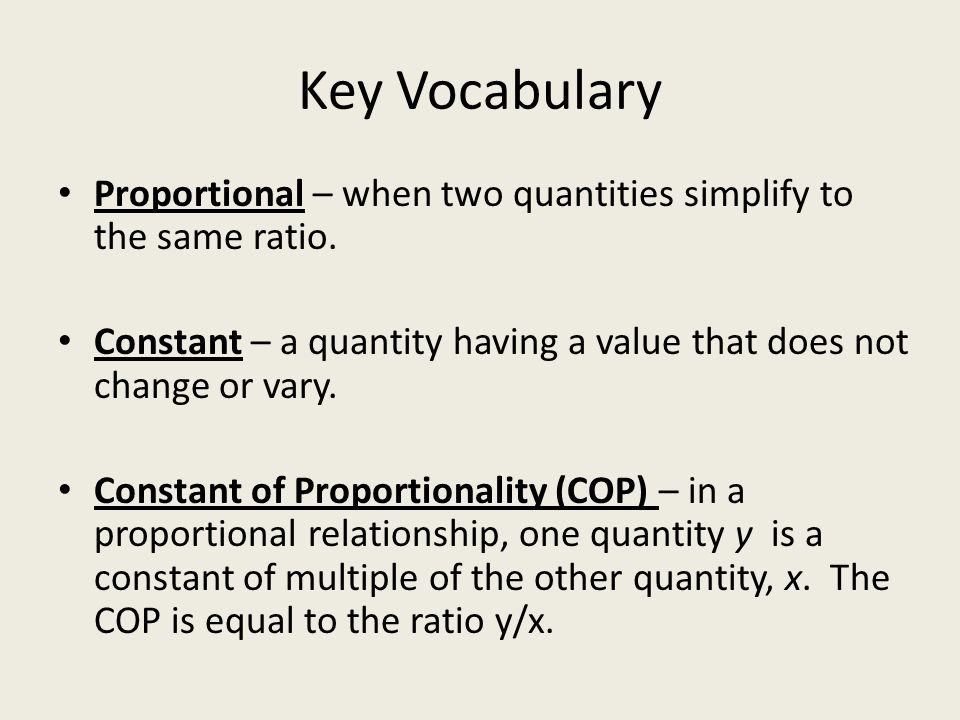 Topic A: Proportional Relationships - ppt video online download