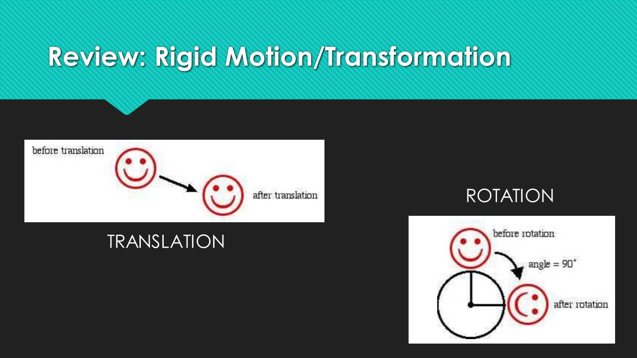 Review A Rigid Motion Ftransformation moreover Rotations C Reflections C Translations furthermore Ma Transformations also Pattern Md furthermore Rotation C B About The Origin. on translation rotation reflection
