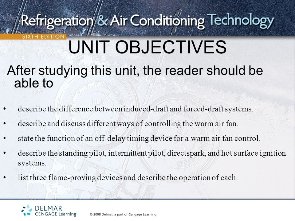 UNIT+OBJECTIVES+After+studying+this+unit%2C+the+reader+should+be+able+to.+describe+the+difference+between+induced draft+and+forced draft+systems. air conditioning (heating and humidification) ppt video online  at gsmportal.co