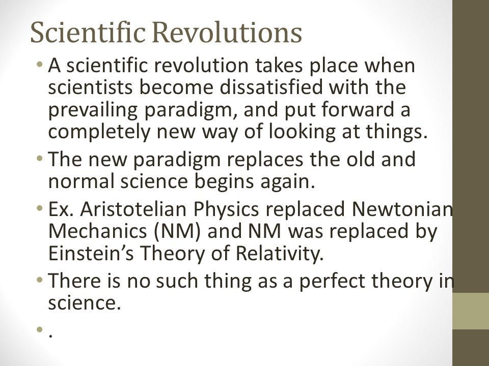 the scientific revolution and new learning The process of learning a theory depends on the study of applications (47)   the transition to a new paradigm is scientific revolution—and this is the transition .