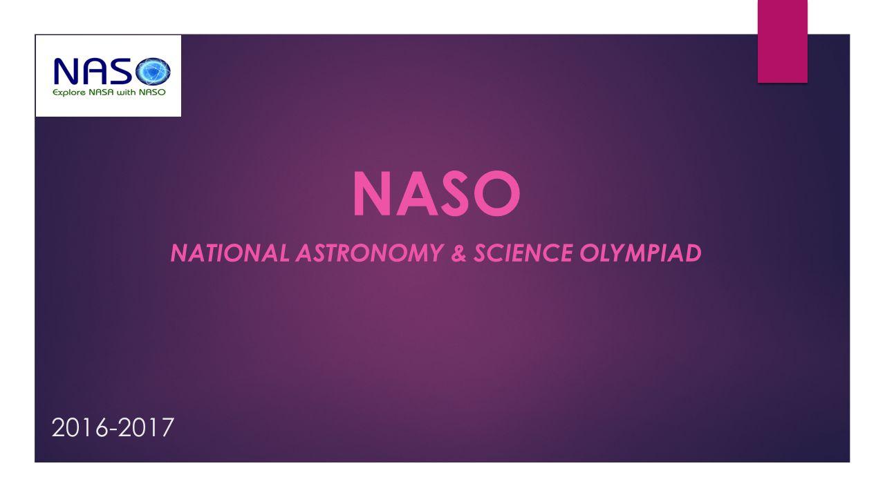 naso National astronomy & Science Olympiad