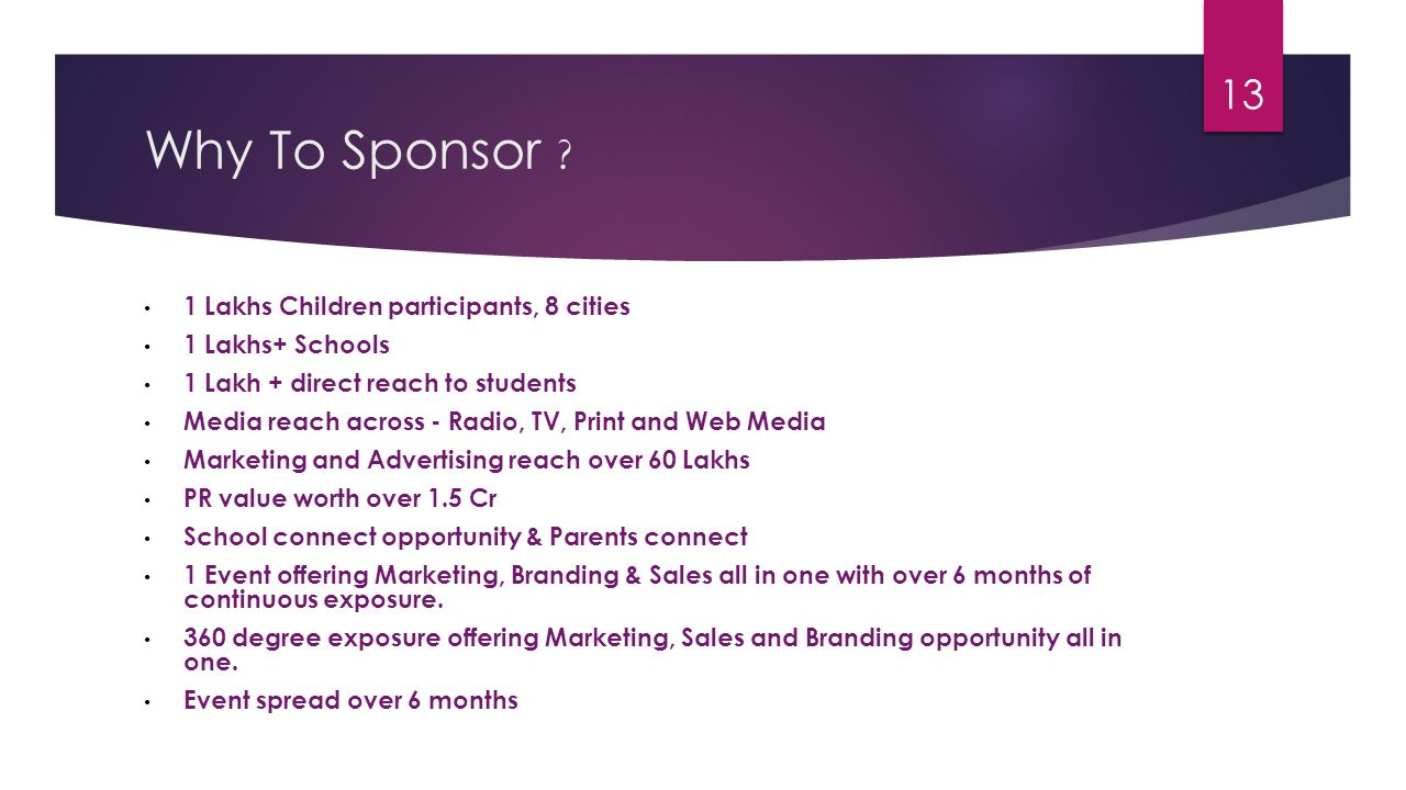 Why To Sponsor 1 Lakhs Children participants, 8 cities