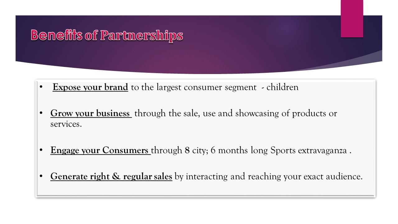 Benefits of Partnerships