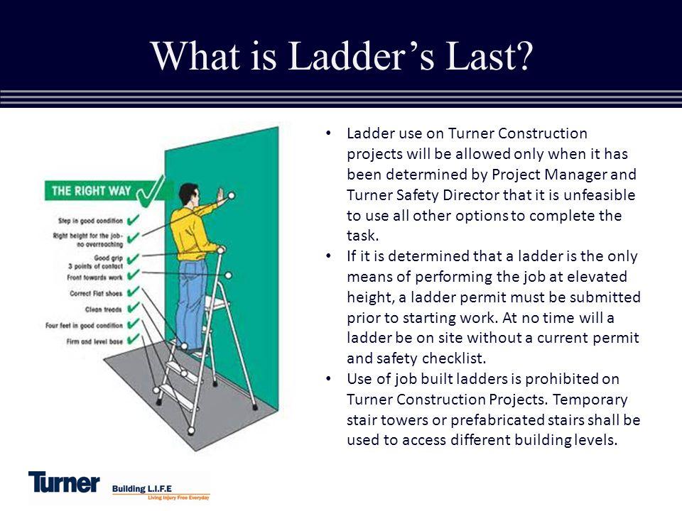 Ladders last turner construction co steve spaulding ii for Ladder project