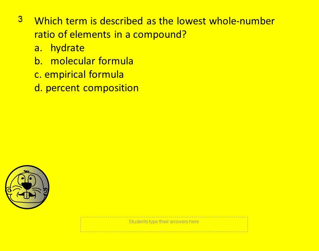 how to find the empirical formula of 50g flourine