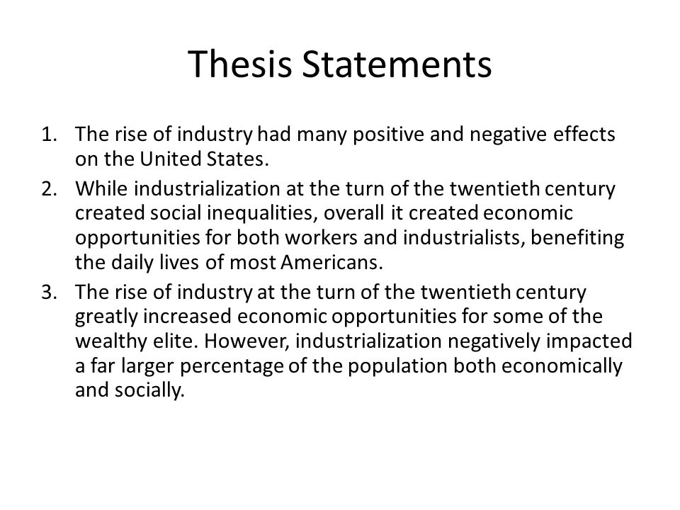 good thesis statements on immigration