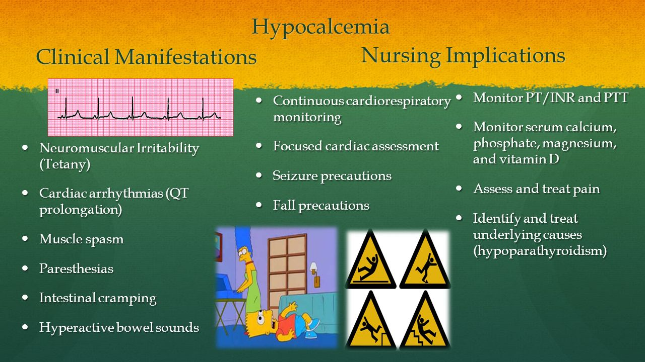 Hypocalcemia and Hypercalcemia