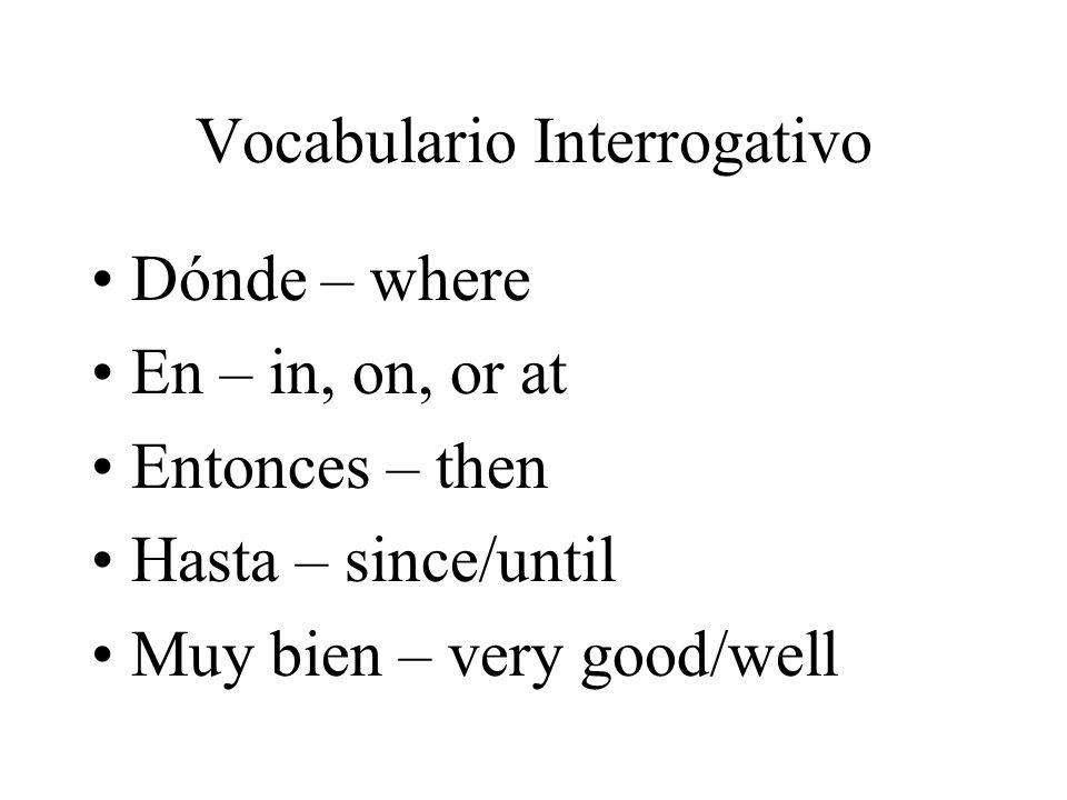 Vocabulario Interrogativo