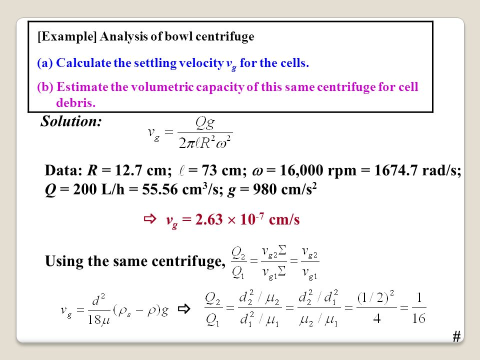 Rad S To Rpm >> CENTRIFUGATION Sedimentation and centrifugation Sedimentation - ppt video online download