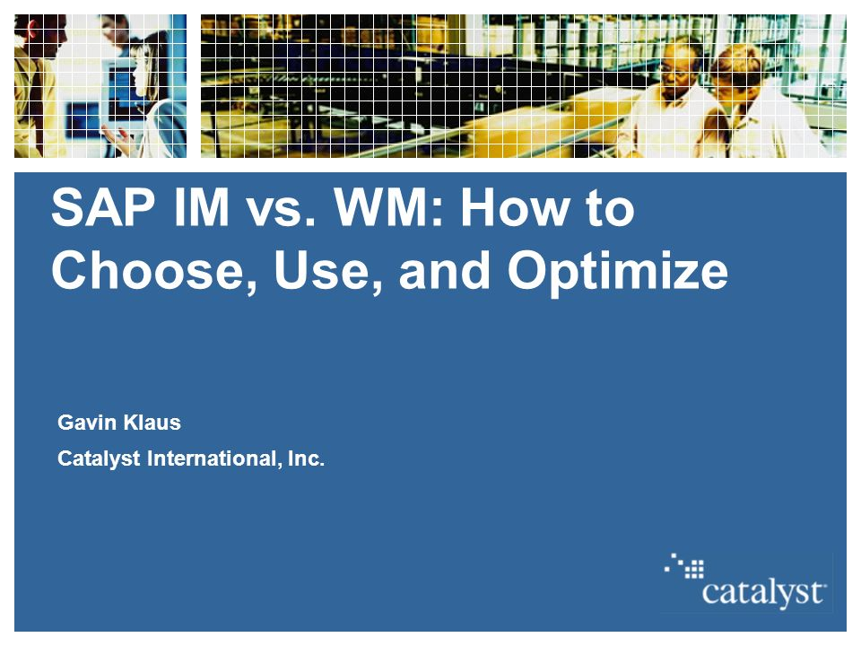 SAP IM vs  WM: How to Choose, Use, and Optimize
