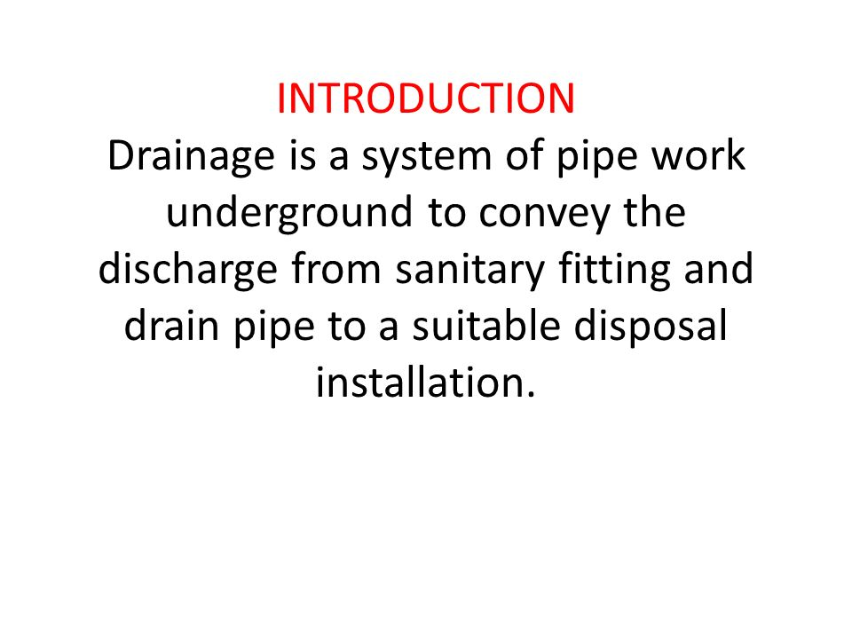 Domestic Drainage System 2012bc Ppt Download