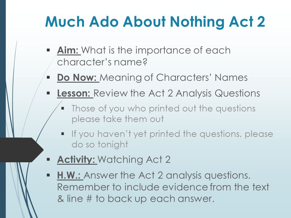 Much Ado About Nothing Act 2 Ppt Video Online Download