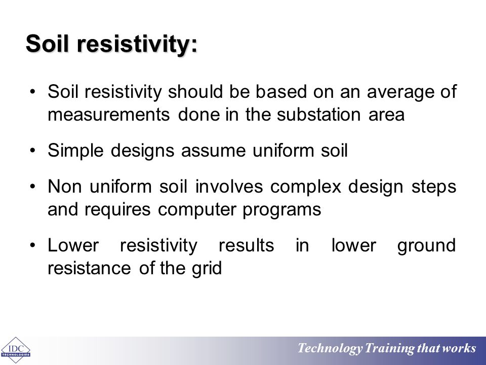 Electrical earthing ppt video online download for Soil resistivity