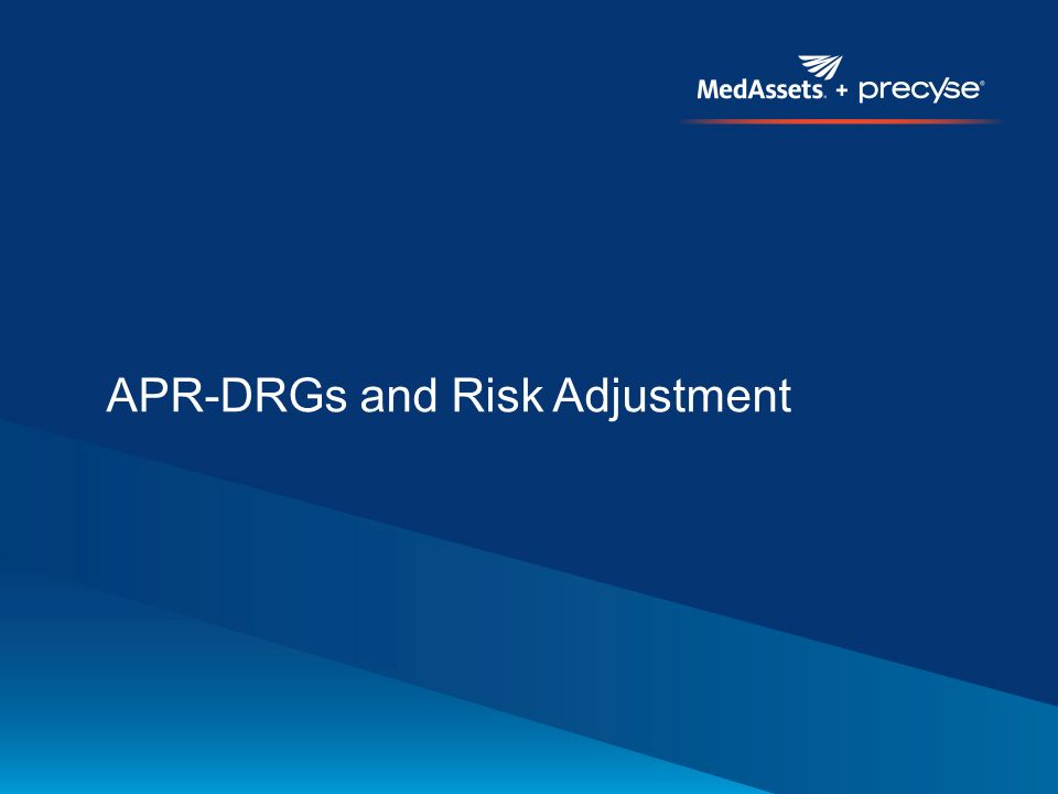 apr drgs a severity adjustment methodology A new inpatient hospital payment method: apr-drg is assigned to one of 314 base apr-drgs then, one of four levels of severity transfer pricing adjustment.