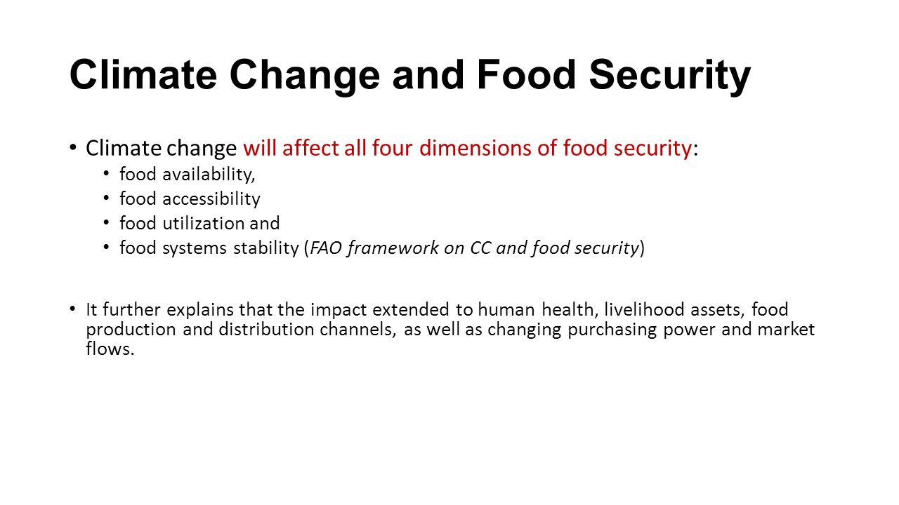 climate change and food production As cited above, a recent report by grain (2011), food and climate change: the  forgotten link, which utilises statistics on global food production (note food, not.
