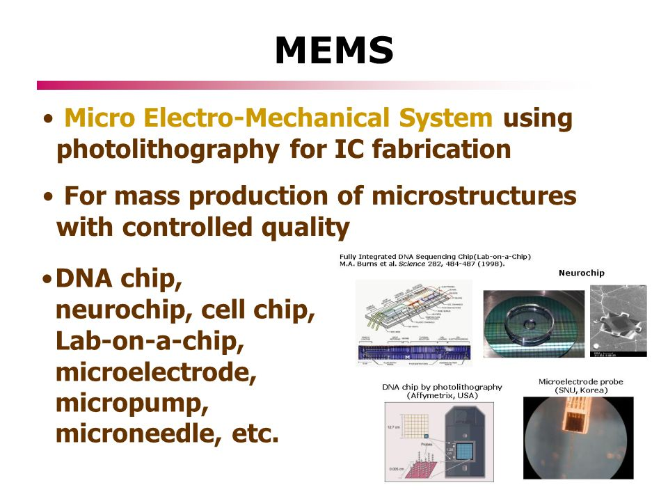 Using a microelectromechanical system