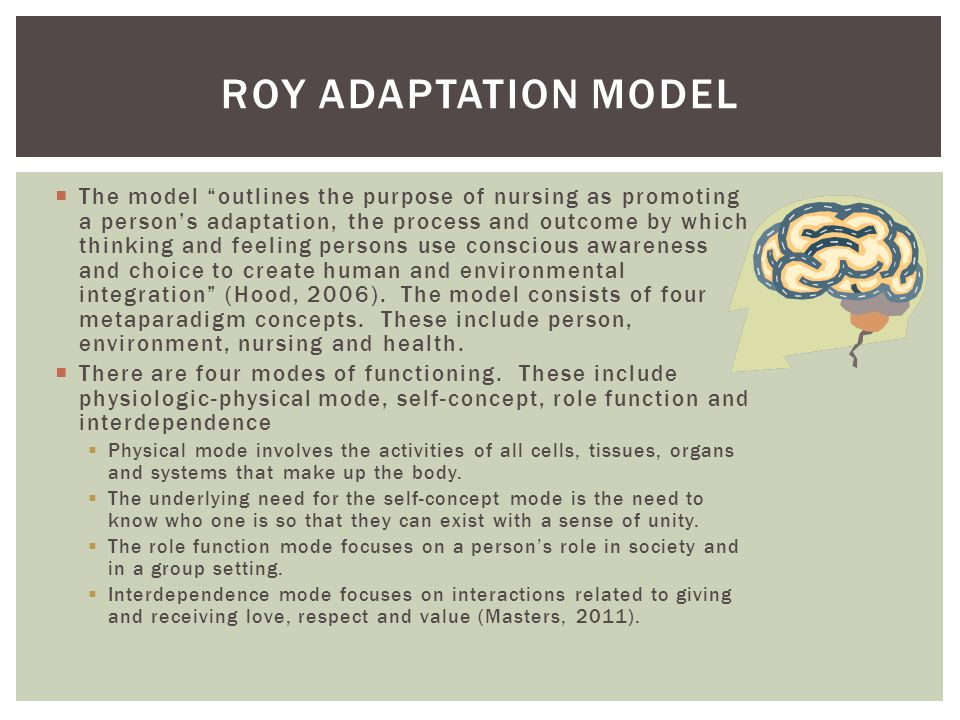 sister callista roys adaptation model View this term paper on conceptual model theory of sister callista roy adaptation model sister callista roy was named after saint callistus a pope and martyr.