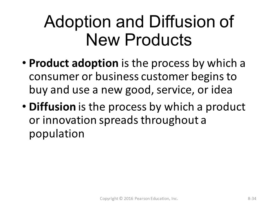 The Diffusion of Innovation – Strategies for Adoption of Products