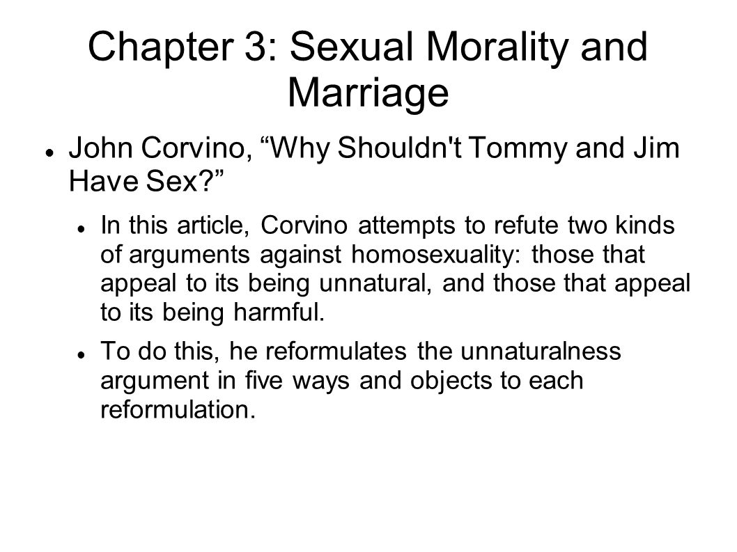 Chapter 3: Sexual Morality and Marriage