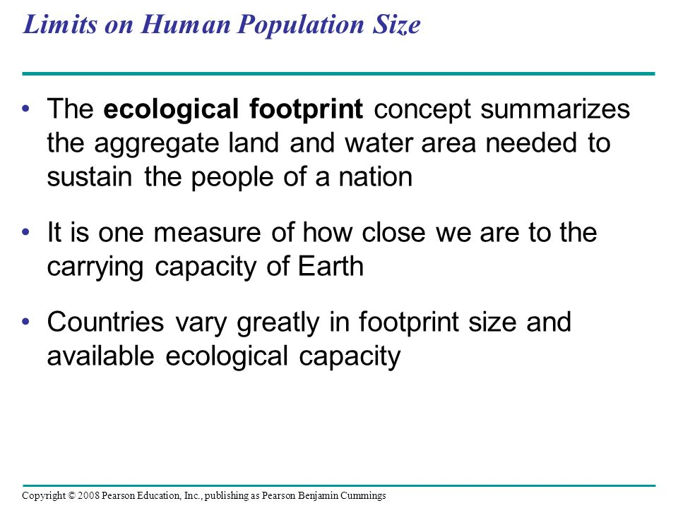 Limits on Human Population Size