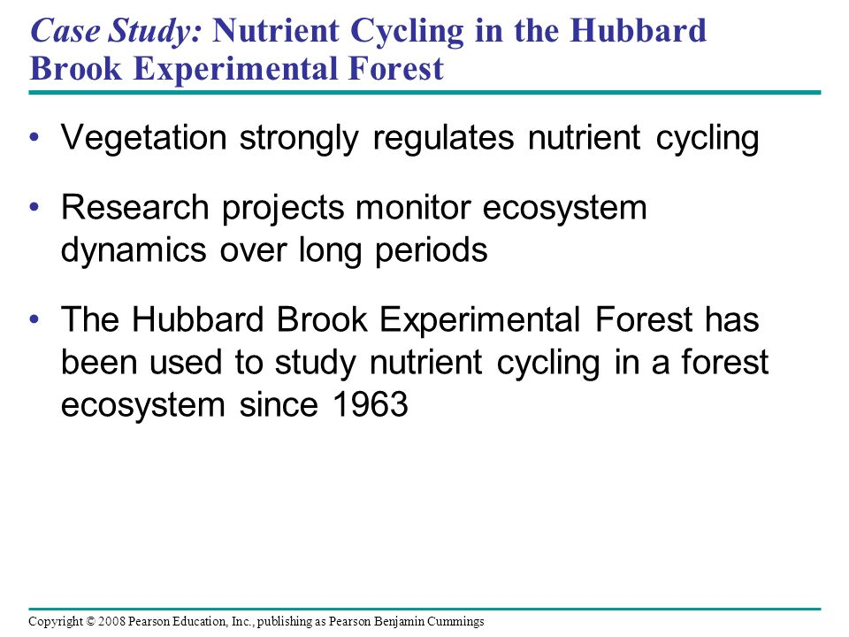 Case Study: Nutrient Cycling in the Hubbard Brook Experimental Forest