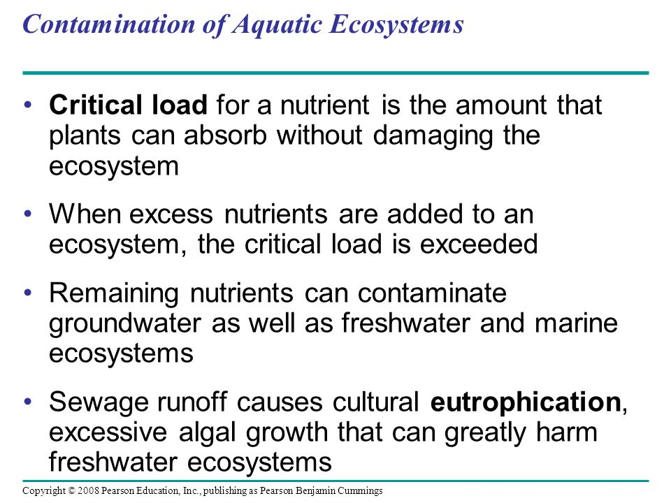 Contamination of Aquatic Ecosystems