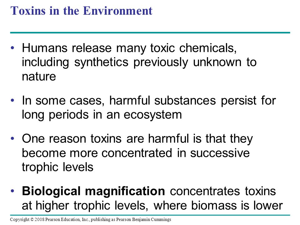 Toxins in the Environment