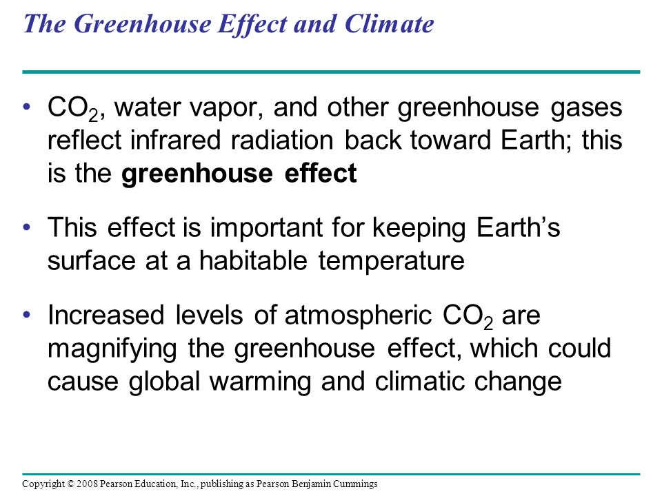 The Greenhouse Effect and Climate