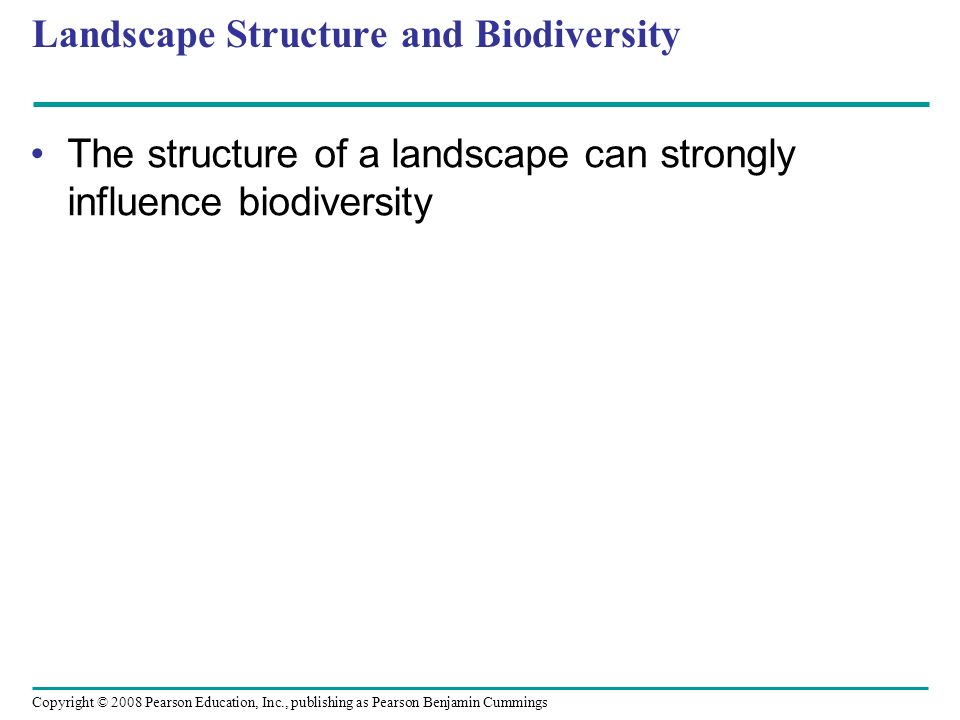 Landscape Structure and Biodiversity