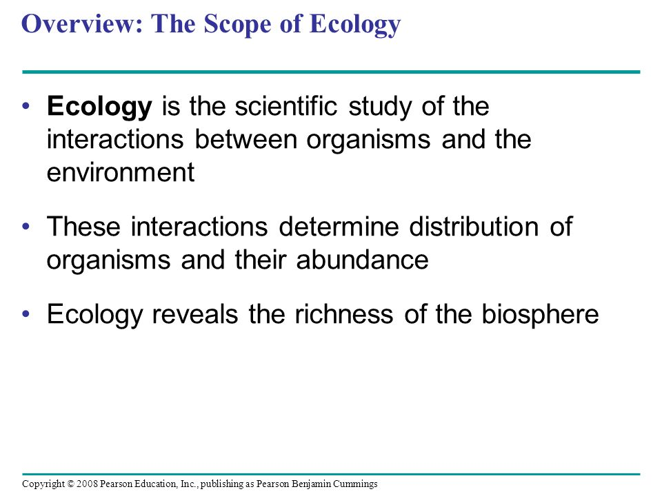 Overview: The Scope of Ecology