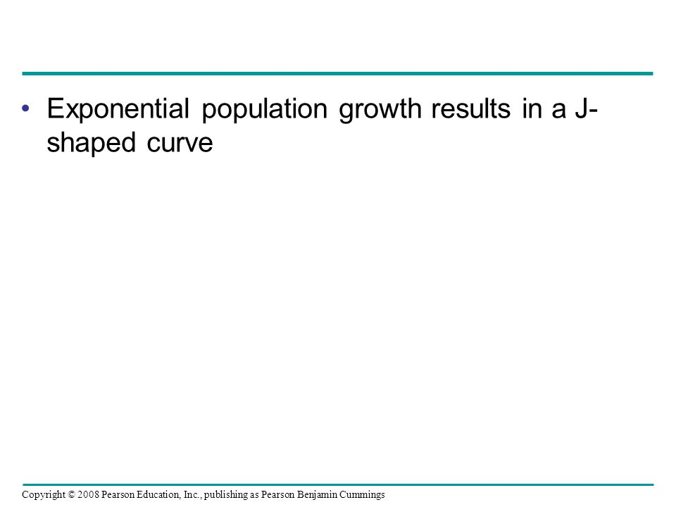 Exponential population growth results in a J-shaped curve