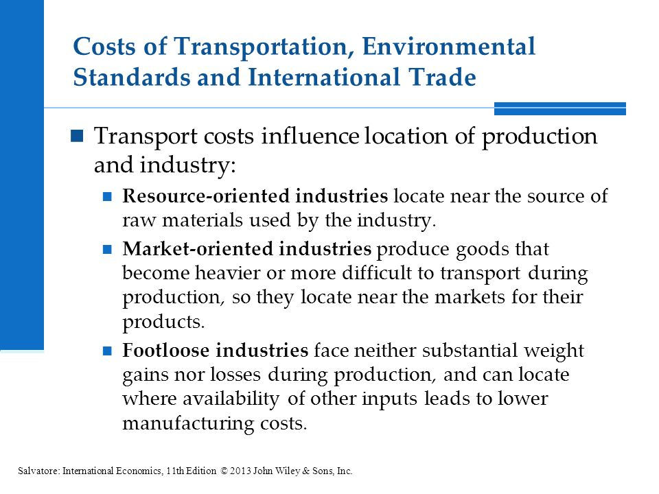 transportation costs and international trade over O n the topic of international trade that share rose from 338 percent to 489 percent over that period indicates that transportation costs.