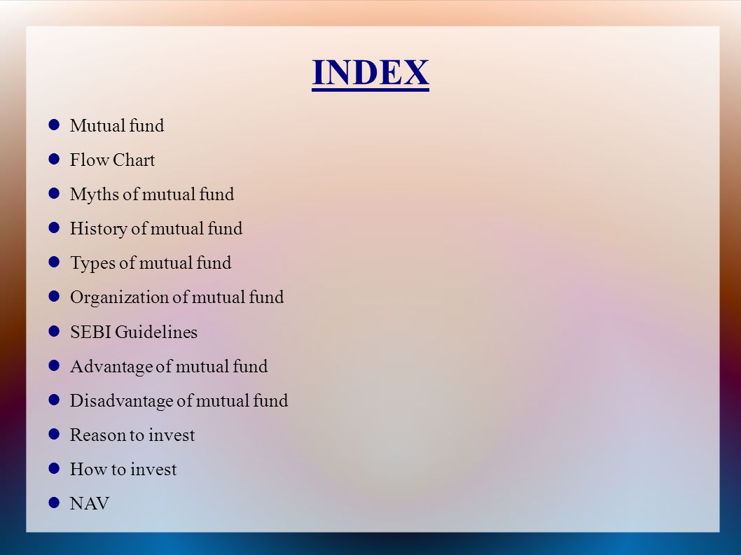 Ppt video online download index mutual fund flow chart myths of mutual fund nvjuhfo Choice Image