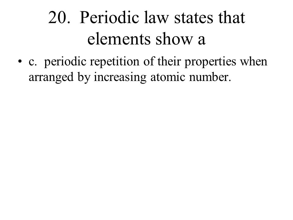 Periodic Table Review Worksheet Answers ppt video online download – Periodic Law Worksheet
