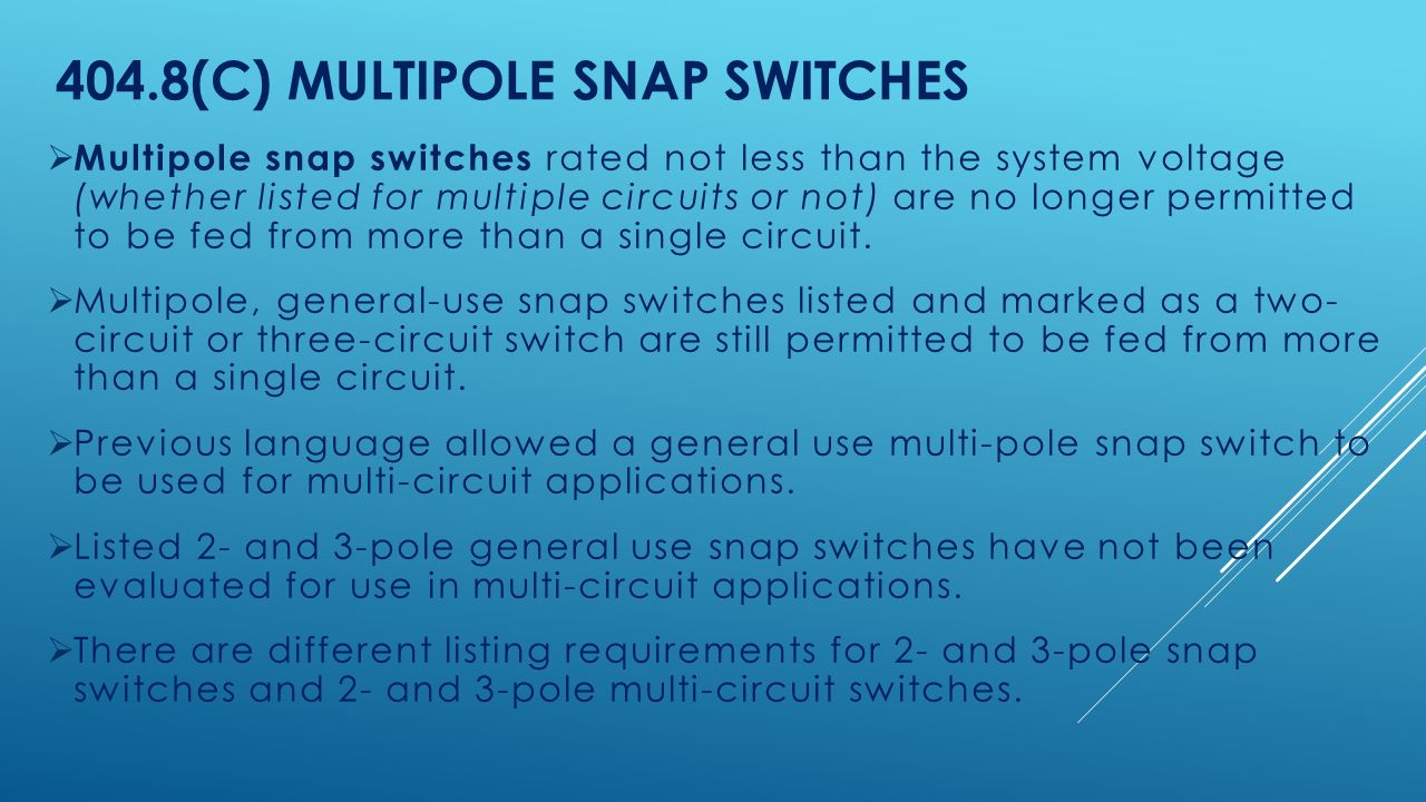 4048(c) Multipole Snap Switches