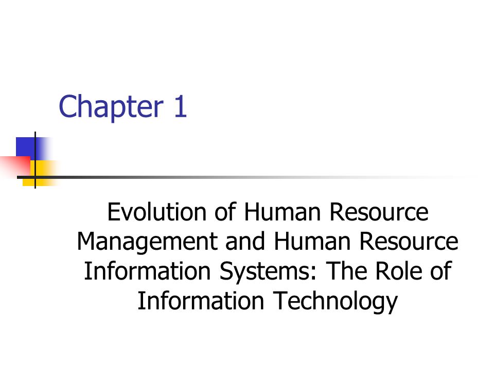 """the roles and impact of technology in human resource management Technology has and continues to play a pivotal role in enabling hr organizations to move from personnel management to business execution to illustrate this process, let's take a look at four different """"generations"""" of hr that have emerged over the past 20 plus years."""