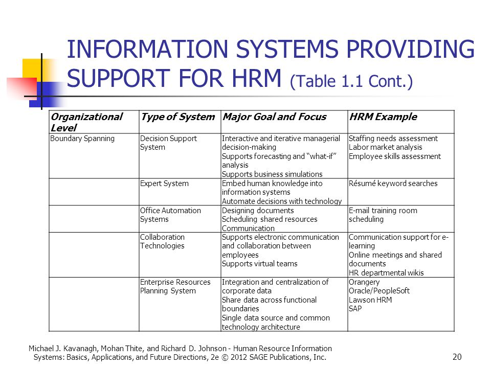 human resource information system hris designing needs for business application
