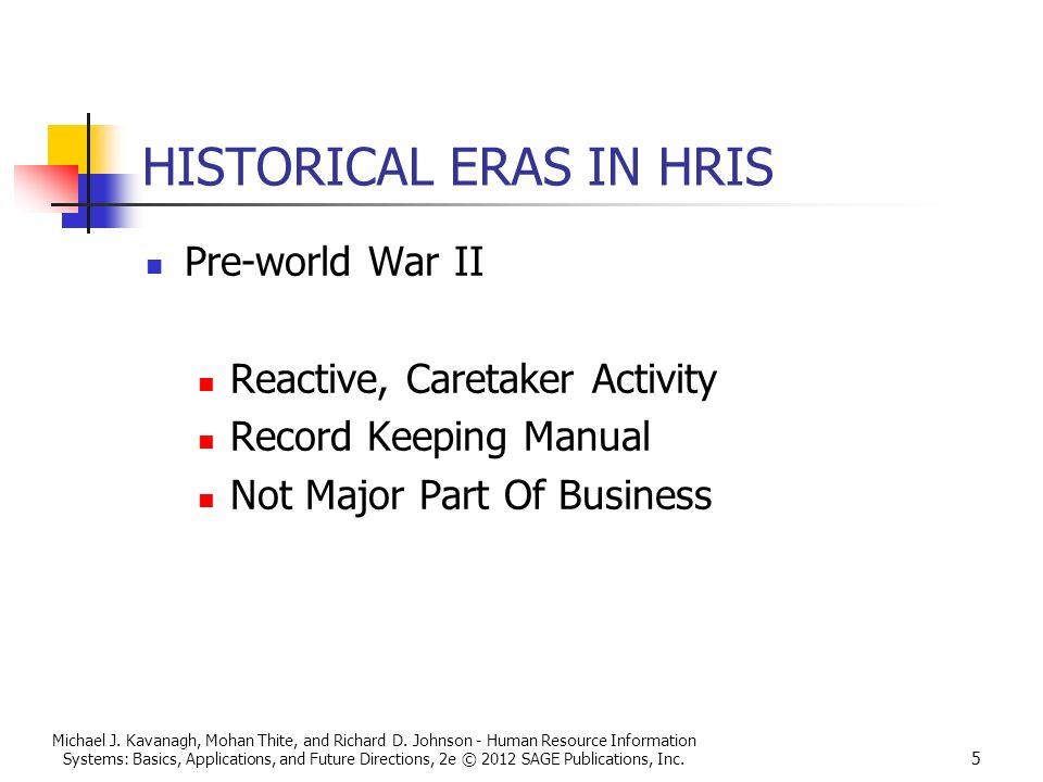 historical eras in hris - Lawson Hris System