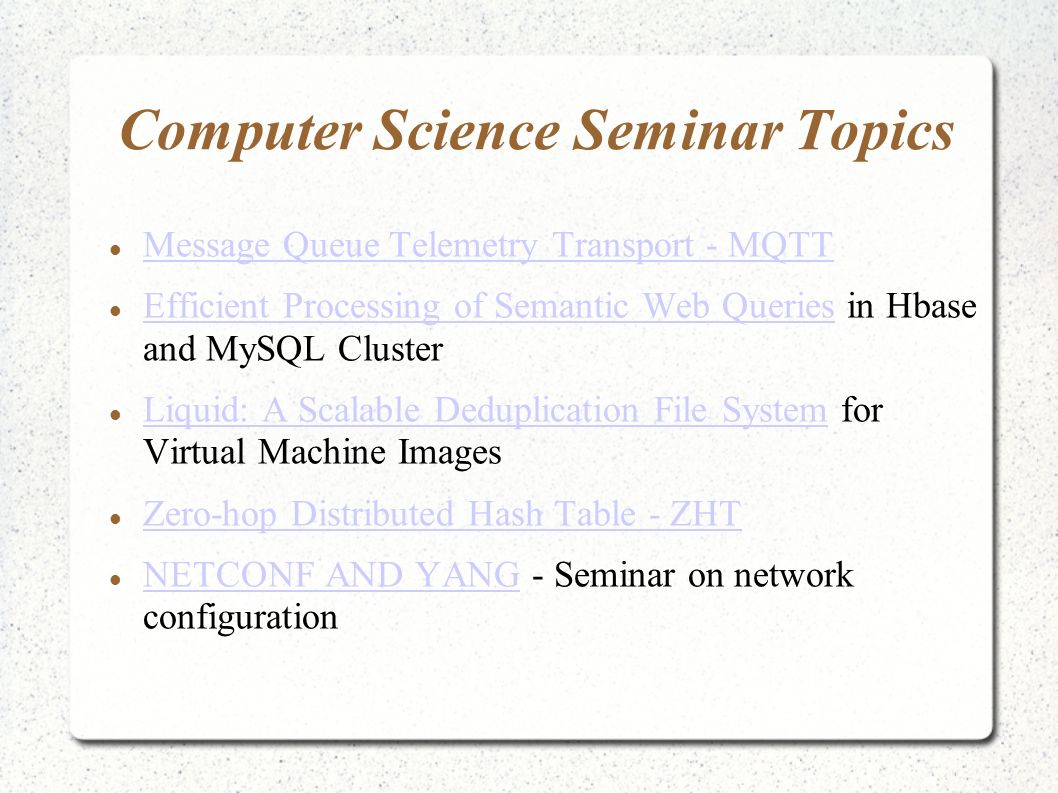 Seminar Topics With Ppt For Engineering Mca Ppt Video