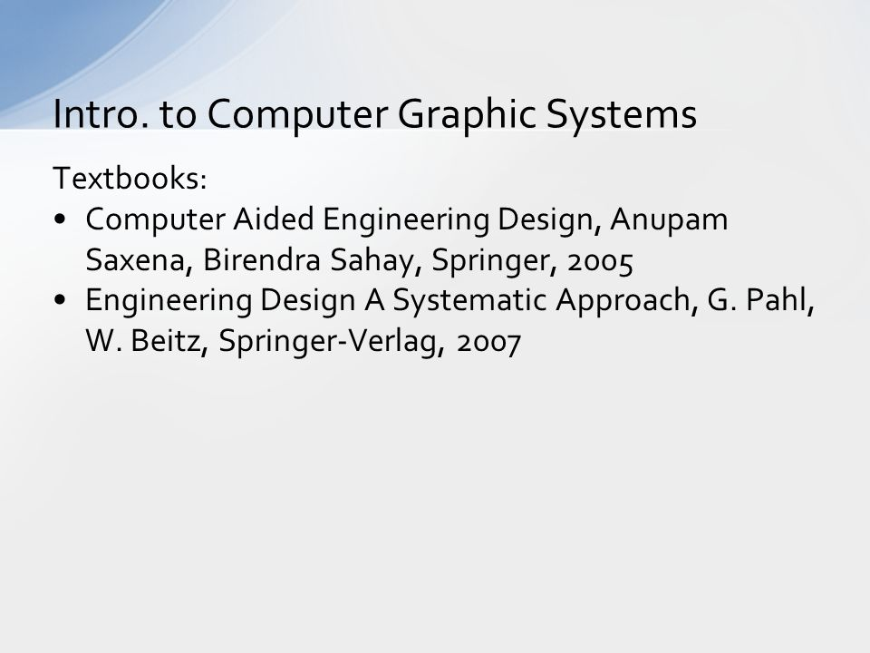 an introduction to the computer aided design system 2017-1-7 unesco – eolss sample chapters control systems, robotics, and automation – volxxi - computer-aided control system engineering tools - christian schmid ©encyclopedia of life support systems (eolss.