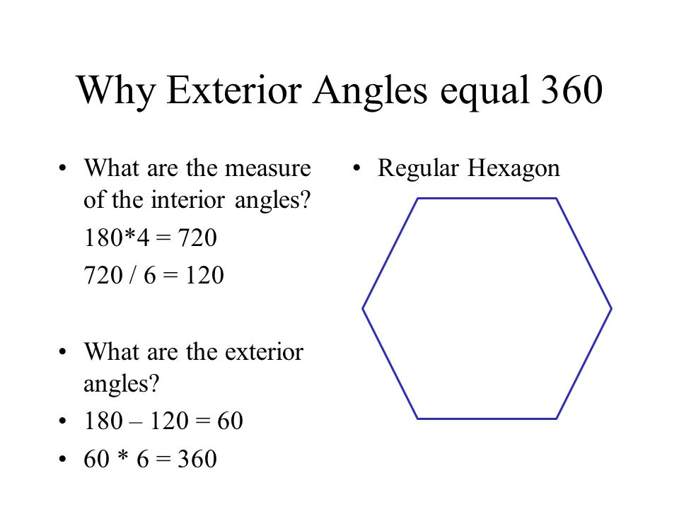 Angles When The Sides Of A Polygon Are Extended Other Angles Are Formed The Original Angles