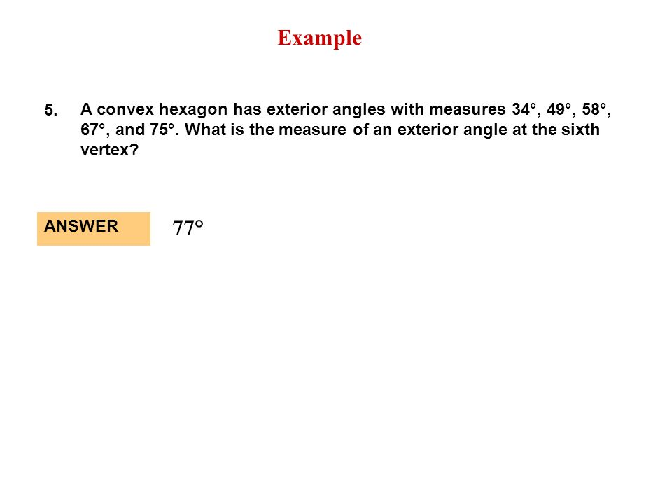 Exterior Angle Formula Hexagon HexagonExterior Angles Exterior