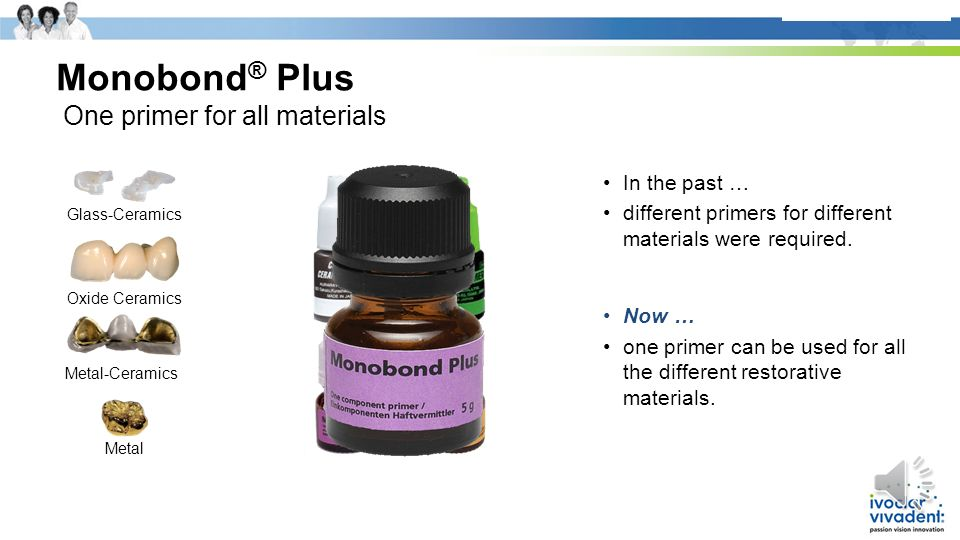 + Monobond® Plus One primer for all materials In the past …