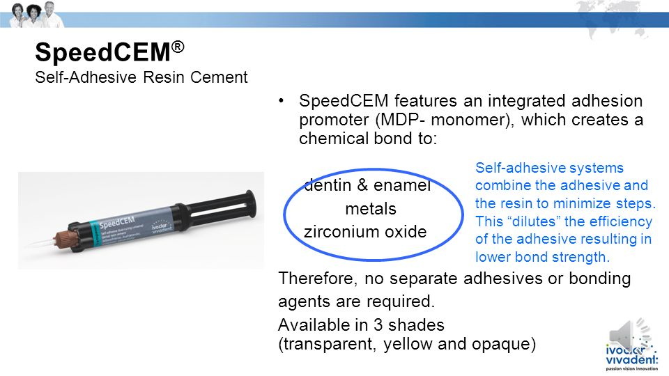 SpeedCEM® Self-Adhesive Resin Cement