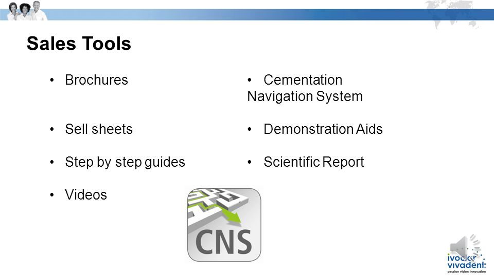 Sales Tools Brochures • Cementation Navigation System