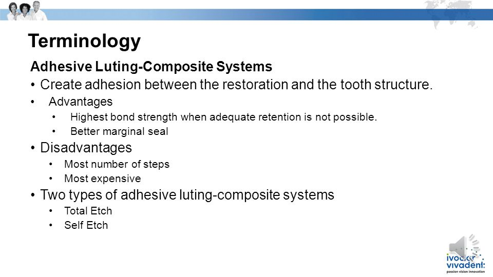 Terminology Adhesive Luting-Composite Systems