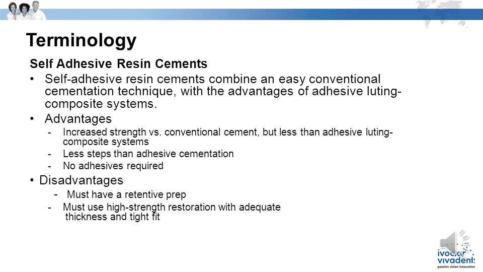 Terminology Self Adhesive Resin Cements