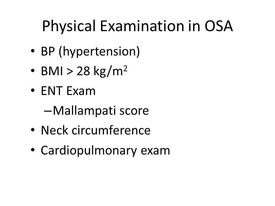Physical Examination in OSA