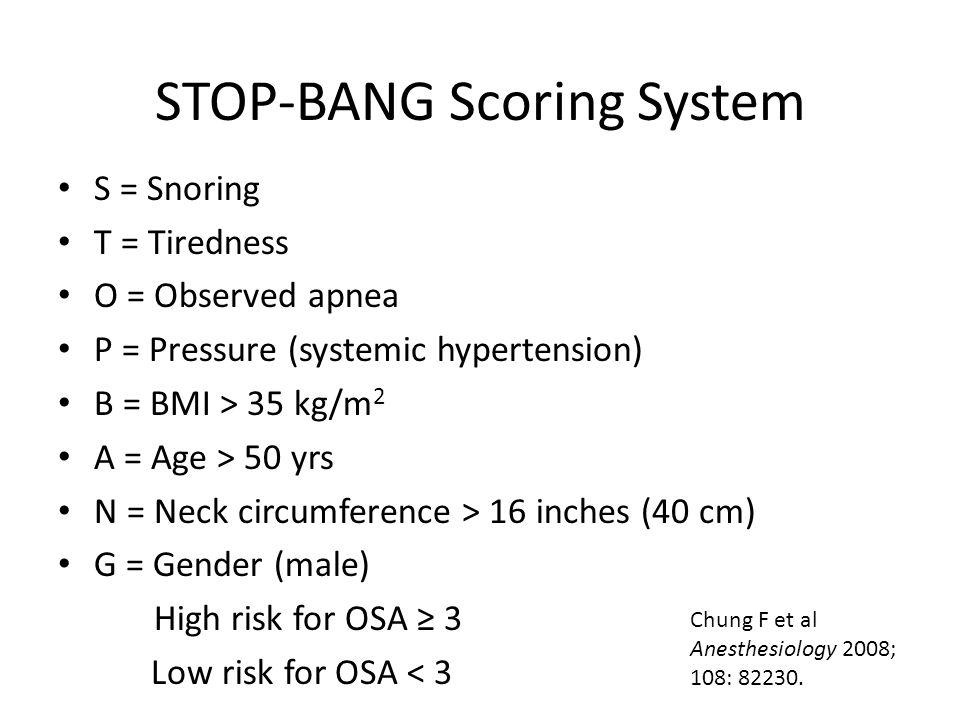 STOP-BANG Scoring System